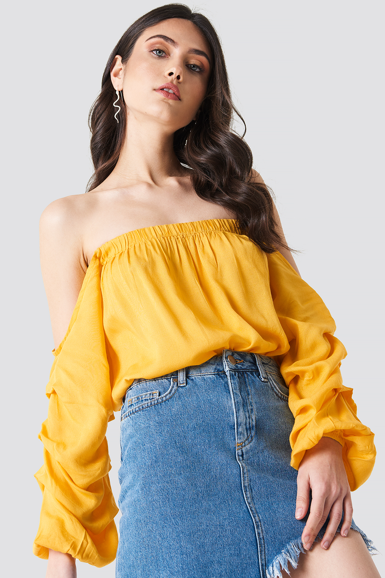 Off Shoulder Puff Sleeve Top NAKDLOUNGE.COM