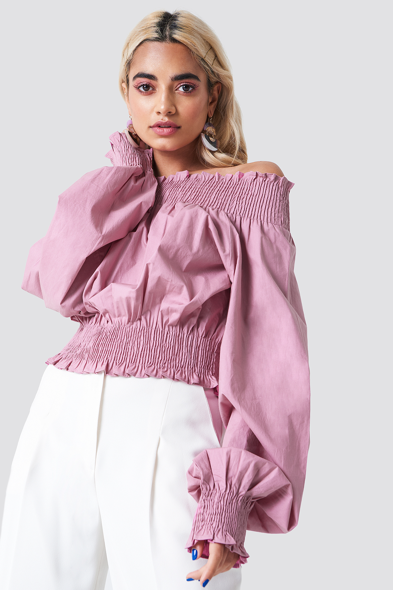 Balloon Sleeve Off Shoulder Blouse NAKDLOUNGE.COM