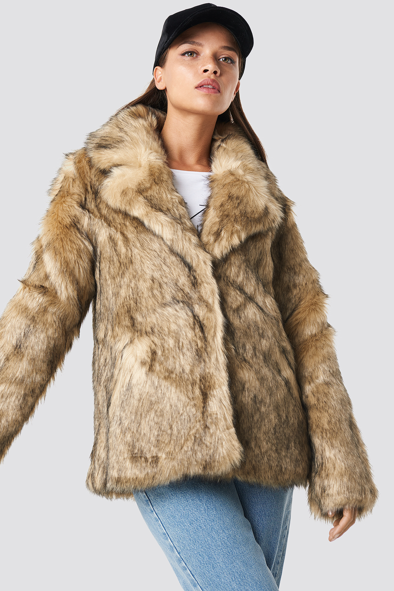 Faux Fur Collar Jacket NAKDLOUNGE.COM