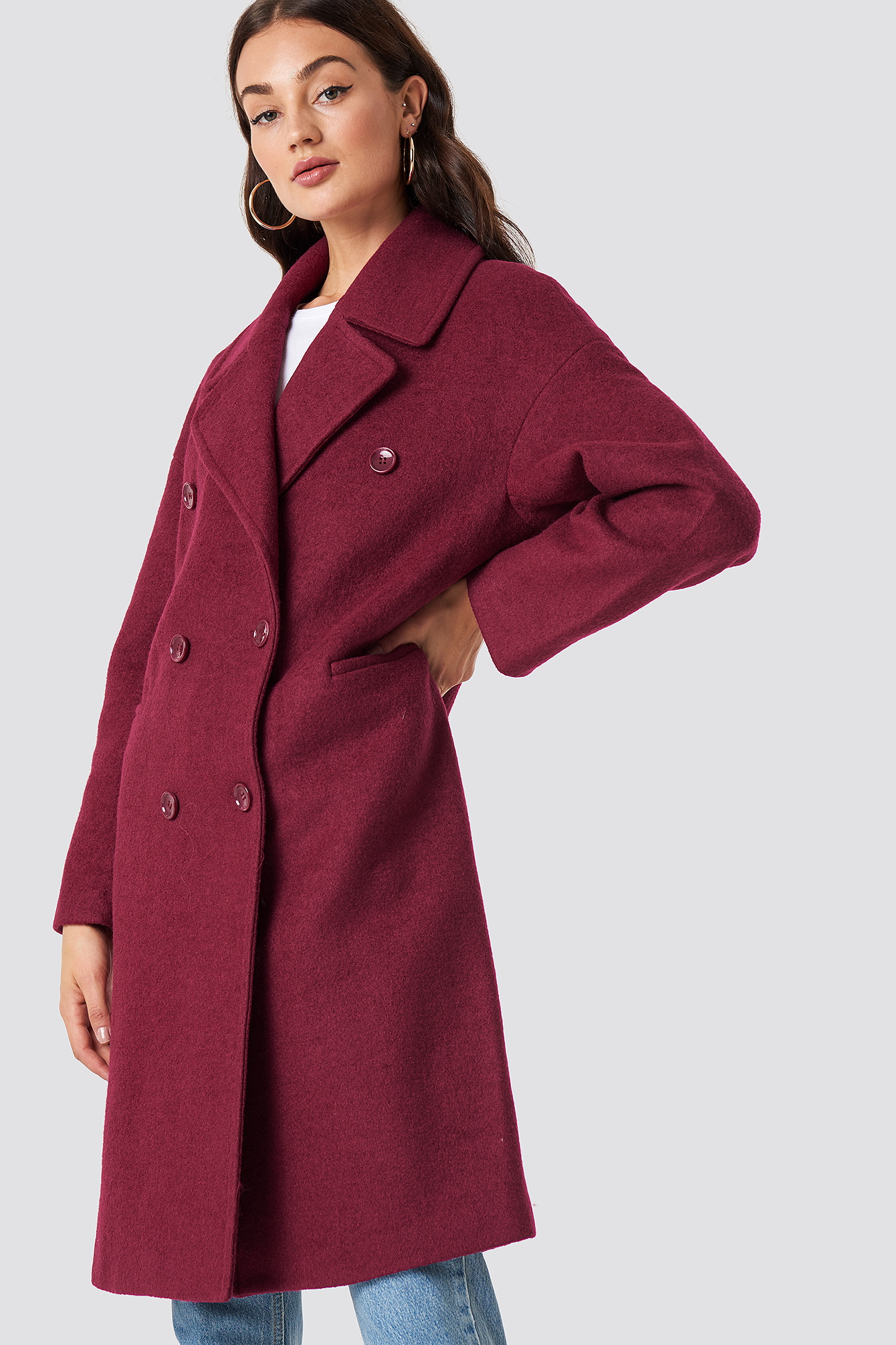 Oversized Double Breasted Coat NAKDLOUNGE.COM