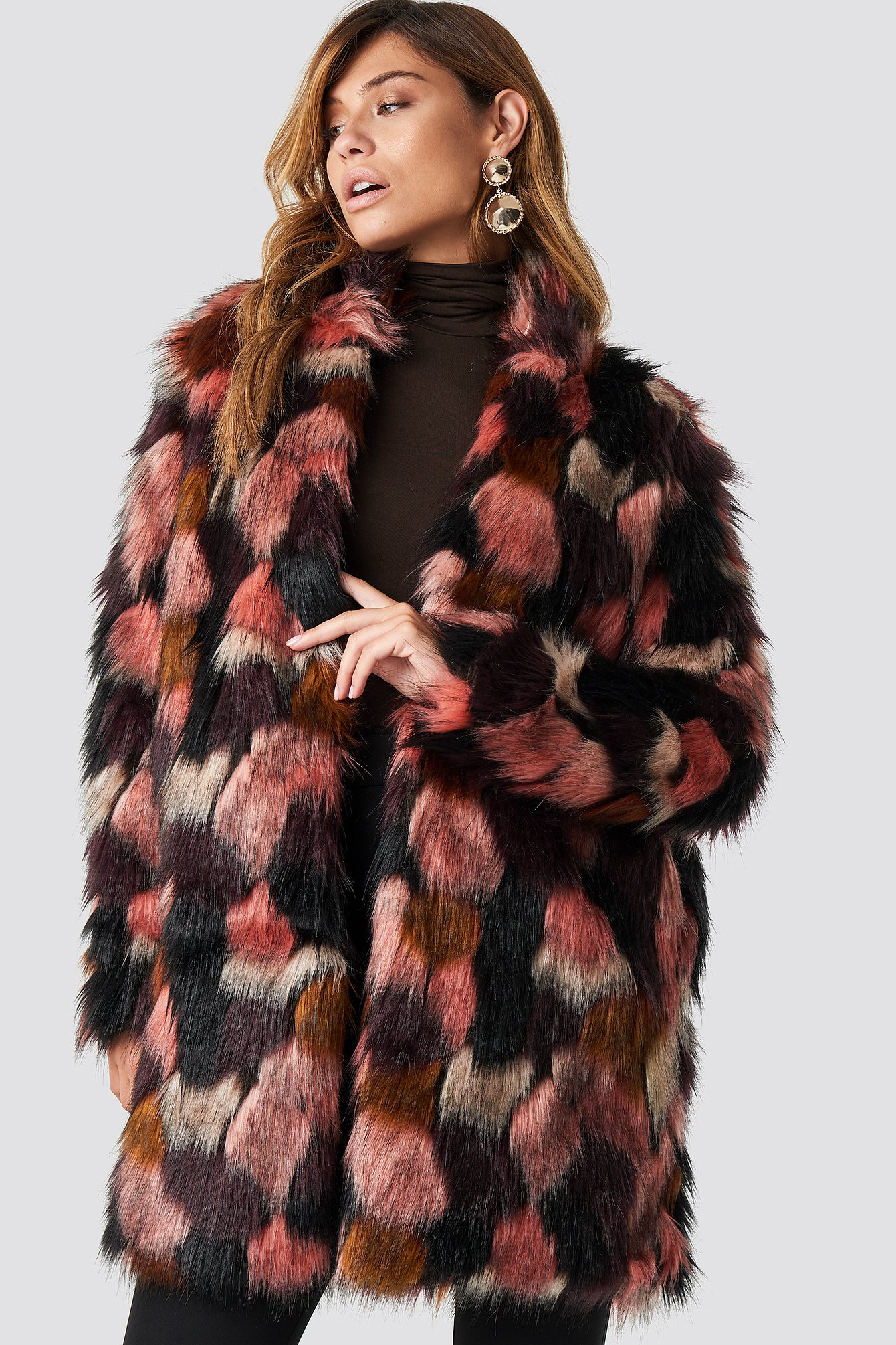 Tekla Fake Fur Coat NAKDLOUNGE.COM